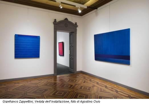 Gianfranco Zappettini, Veduta dell'installazione, foto di Agostino Osio