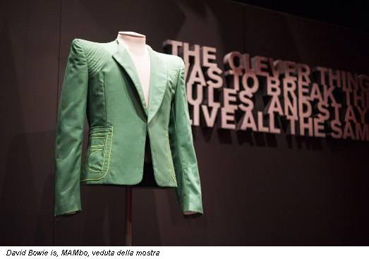 David Bowie is, MAMbo, veduta della mostra
