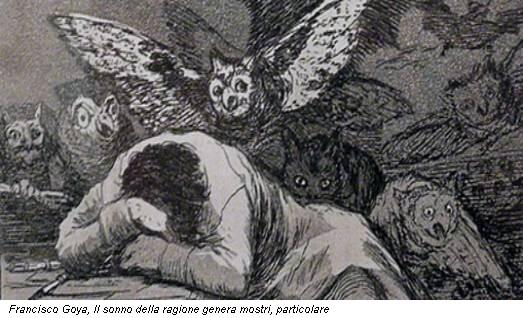 Francisco Goya, Il sonno della ragione genera mostri, particolare