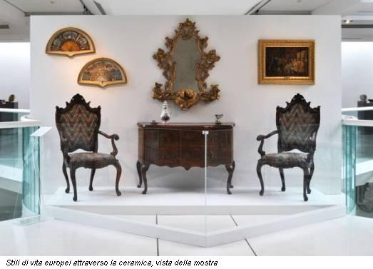 Stili di vita europei attraverso la ceramica, vista della mostra
