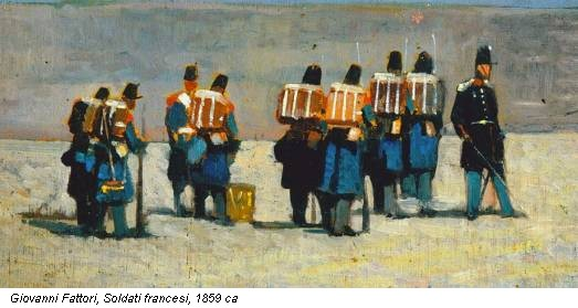 Giovanni Fattori, Soldati francesi, 1859 ca