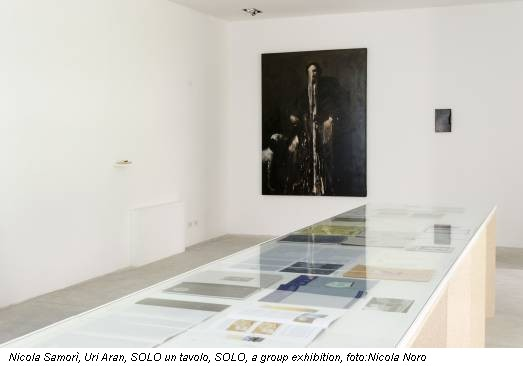 Nicola Samorì, Uri Aran, SOLO un tavolo, SOLO, a group exhibition, foto:Nicola Noro