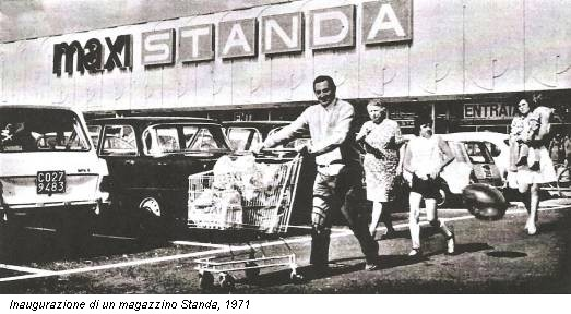 Inaugurazione di un magazzino Standa, 1971