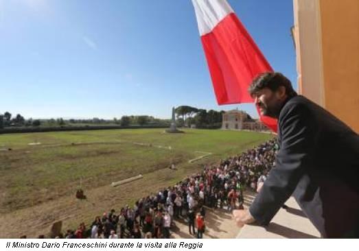 Il Ministro Dario Franceschini durante la visita alla Reggia
