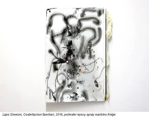 Lapo Simeoni, Costellazioni familiari, 2016, poliester epoxy spray marbles fridge