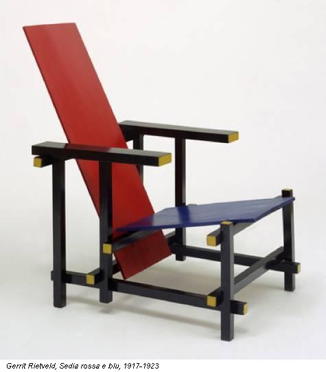 Gerrit Rietveld, Sedia rossa e blu, 1917-1923