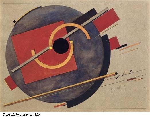 El Lissitzky, Appunti, 1920