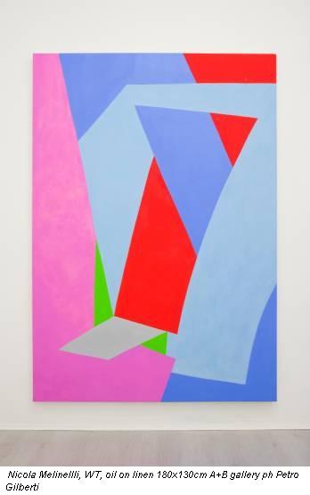 Nicola Melinellli, WT, oil on linen 180x130cm A+B gallery ph Petro Gilberti
