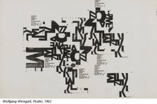 Wolfgang Weingart, Poster, 1962