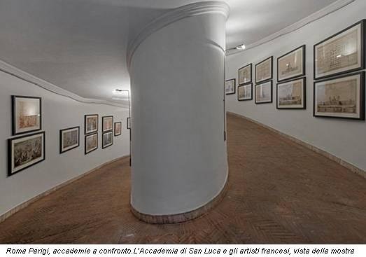 Roma Parigi, accademie a confronto.L'Accademia di San Luca e gli artisti francesi, vista della mostra