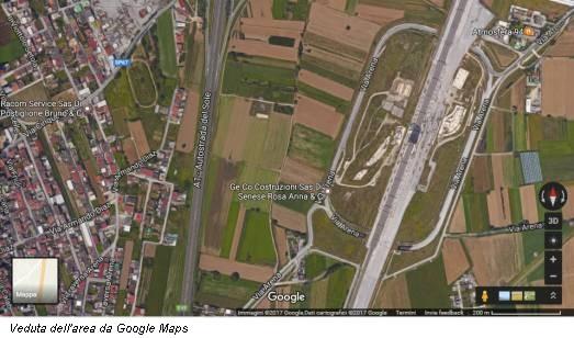Veduta dell'area da Google Maps