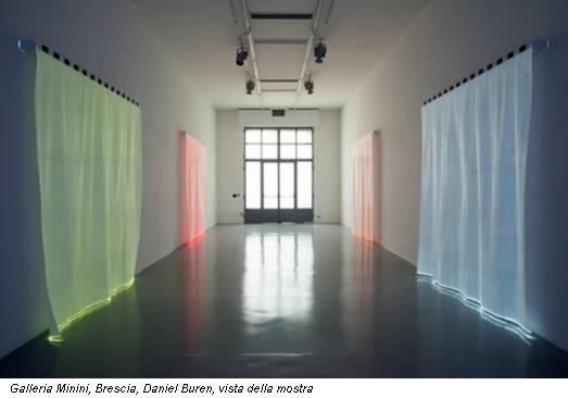 Galleria Minini, Brescia, Daniel Buren, vista della mostra