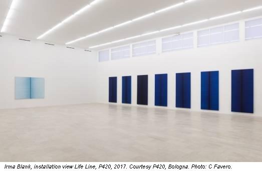 Irma Blank, installation view Life Line, P420, 2017. Courtesy P420, Bologna. Photo: C Favero.