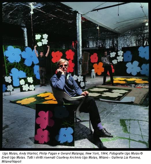 Ugo Mulas, Andy Warhol, Philip Fagan e Gerard Malanga, New York, 1964, Fotografie Ugo Mulas © Eredi Ugo Mulas. Tutti i diritti riservati Courtesy Archivio Ugo Mulas, Milano - Galleria Lia Rumma, Milano/Napoli