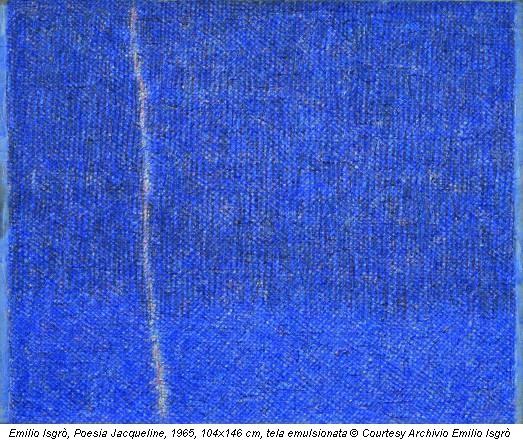 Emilio Isgrò, Poesia Jacqueline, 1965, 104x146 cm, tela emulsionata © Courtesy Archivio Emilio Isgrò