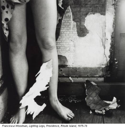 Francesca Woodman, Lighting Legs, Providence, Rhode Island, 1975-78