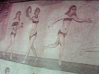 Mosaici della villa del Casale a Piazza Armerina, particolare