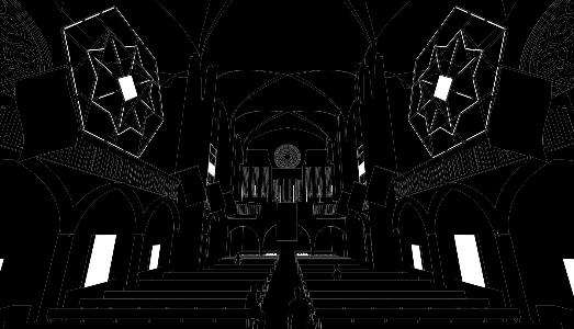 Atmosfere lunari in una chiesa di Metz