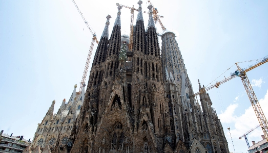 Lavori in corso alla Sagrada Familia