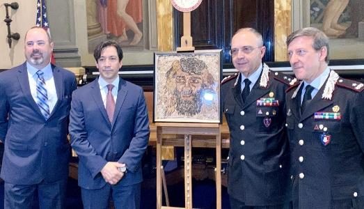 Una cooperazione Carabinieri-FBI riporta in Italia due preziosi reperti dagli USA
