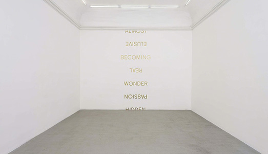 Fino al 19.V.2018 | Robert Barry, Melissa Kretschmer | Galleria Alfonso Artiaco, Napoli