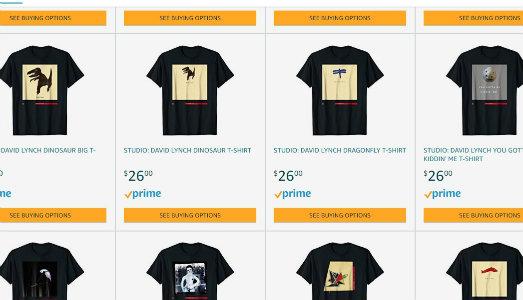 In attesa del suo memoir, David Lynch apre un negozio di t-shirt su Amazon