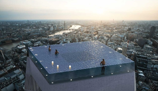 Una piscina per lo skyline di Londra