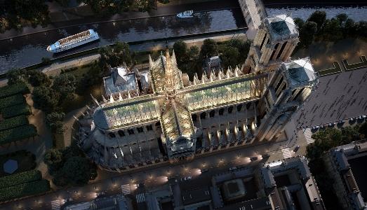 Una Notre Dame in vetro e legno per Miysis Studio |