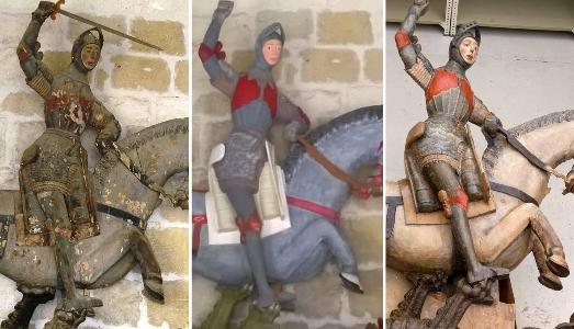San Giorgio è tornato. Un restauro ripristina la scultura diventata un meme di internet