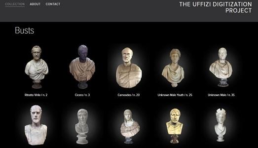 La collezione degli Uffizi in 3D, grazie all'Università dell'Indiana