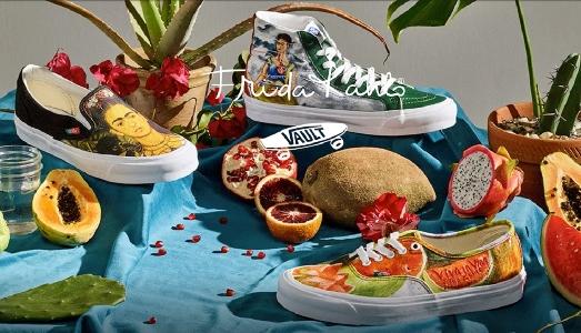 Vans ha presentato l'ultima collezione di sneakers ispirata alle opere di Frida Kahlo