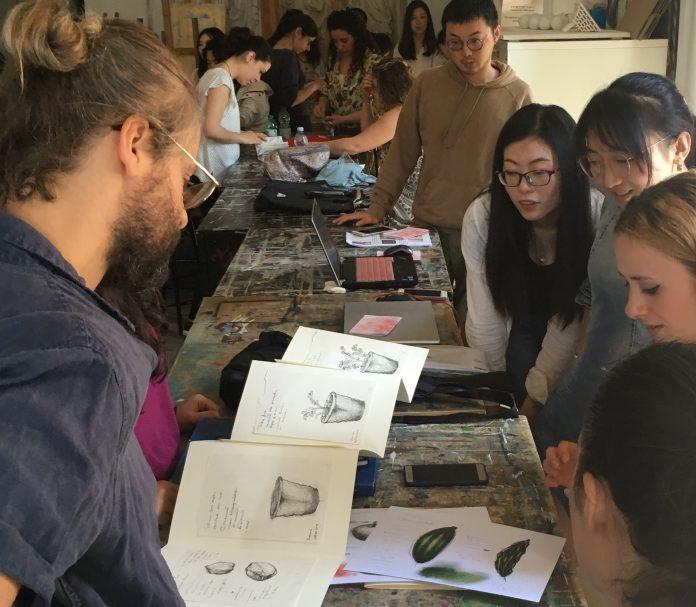 Leone Contini, workshop, aprile-giugno 2019, Accademia belle arti di Roma, foto Flavia Matitti