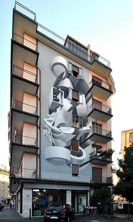 Un'opera di Street art di Peeta
