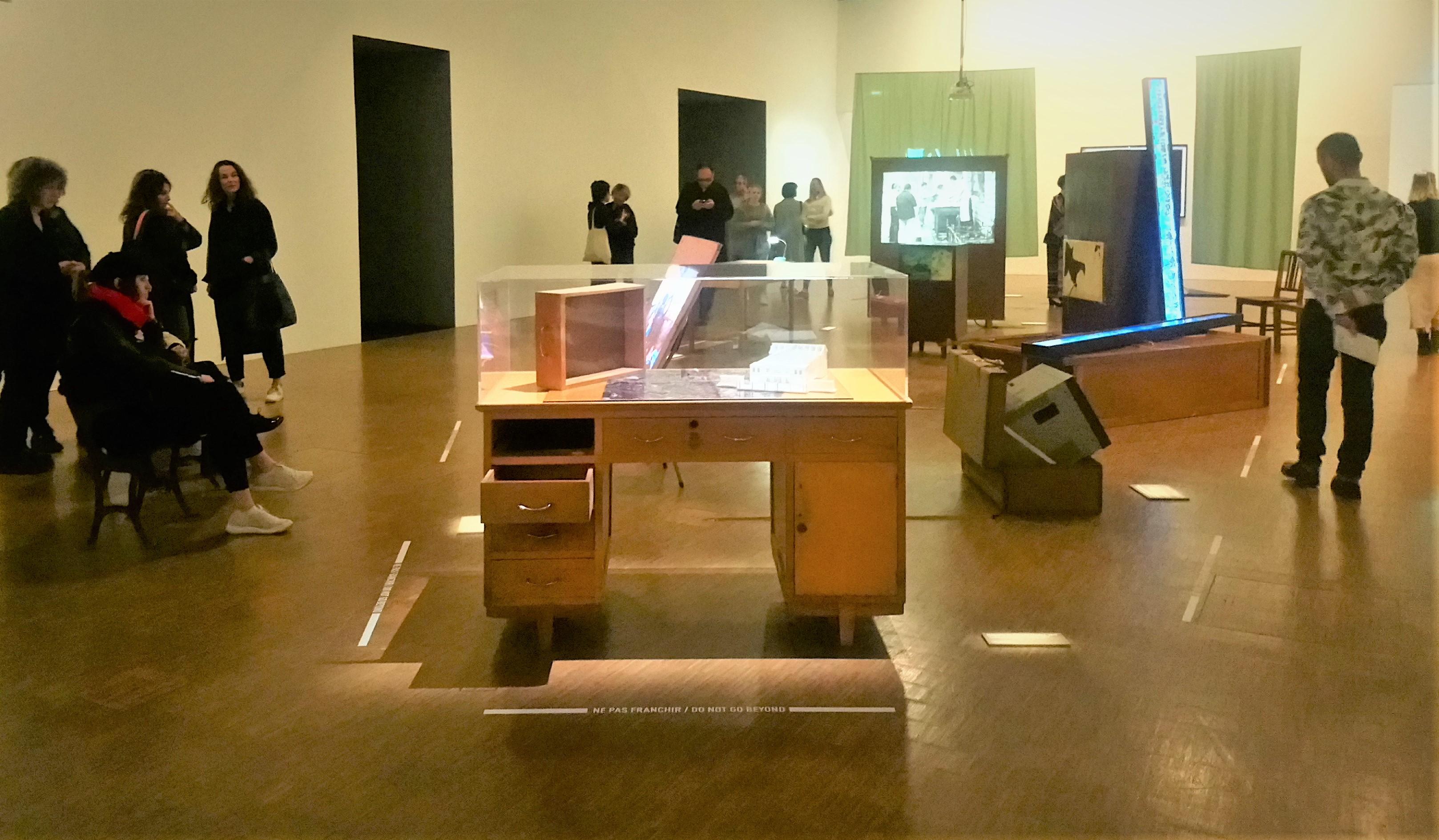 Veduta della mostra di Cao Fei al Pompidou
