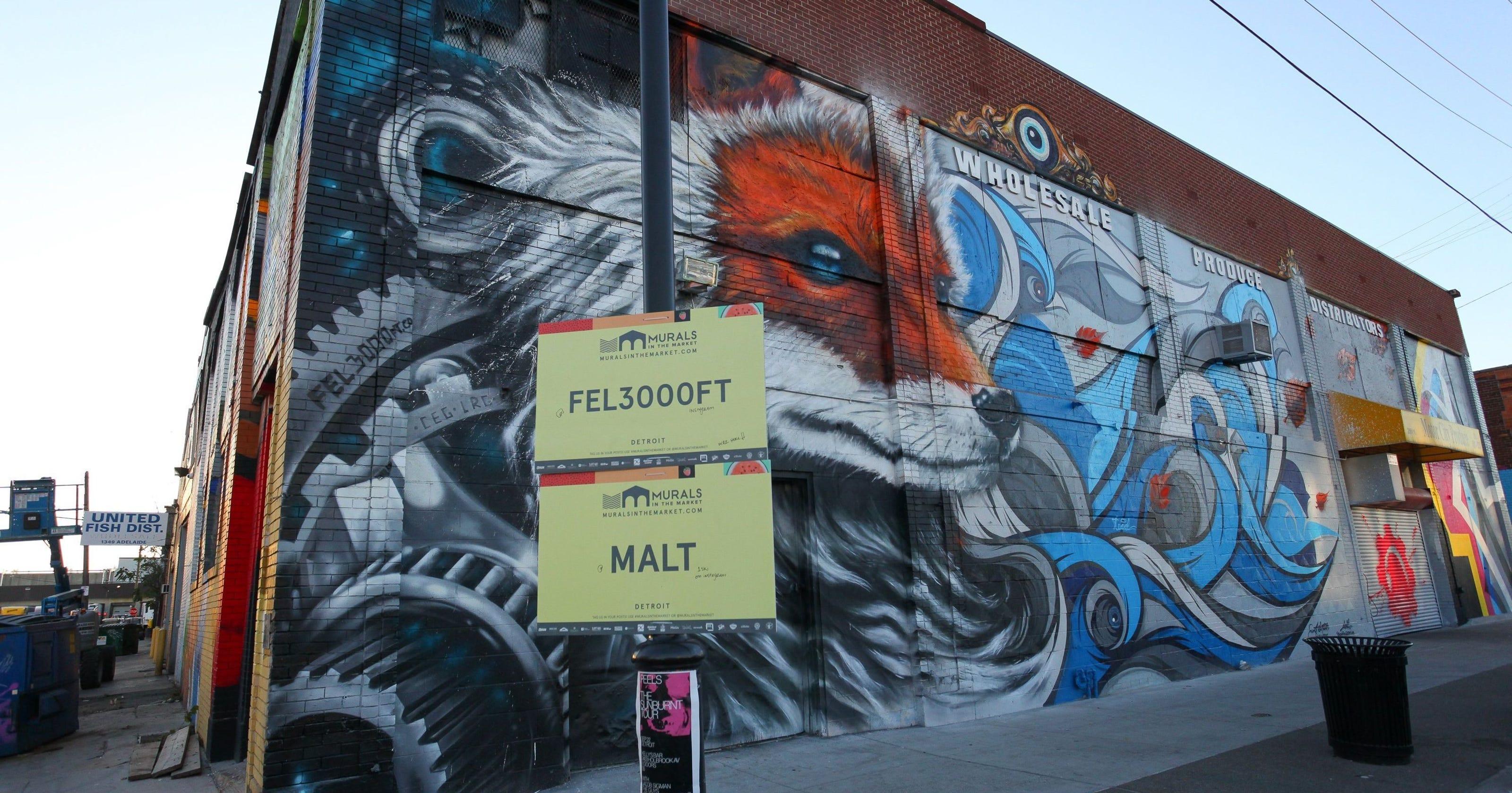Murales nell'Eastern Market di Detroit