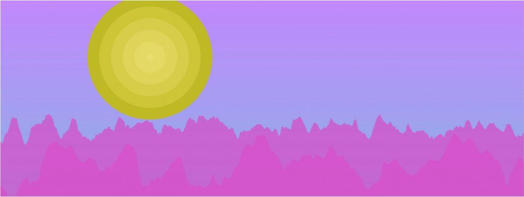 Un paesaggio generato da musicScapes, dalla musica ascoltata su Spotify