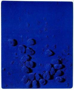 Yves Klein, Sponge relief bleue