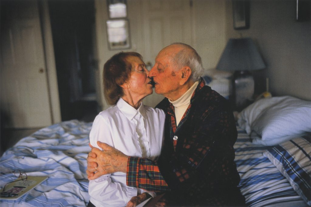 Nan Goldin My parents kissing on her bed, 2004 C-print 74 x 102 cm Courtesy Artist & Guido Costa Projects, Torino