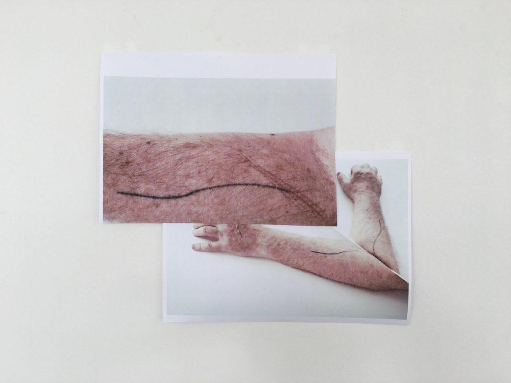 Peter Welz Study for a portait [AA Bronson I Tatoo] 02, 2019 Stampa d'archivio su carta cotone nuova / Archive print on cotton new paper 70 x 100 cm Courtesy Galleria Fumagalli, Milano