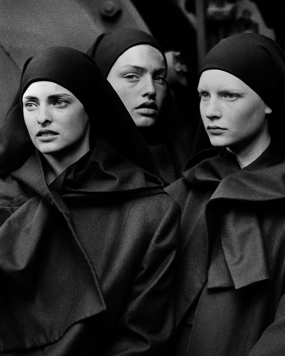 Linda Evangelista, Michaela Bercu and Kirsten Owen for Comme des Garçons, 1988 Photographed by Peter Lindbergh