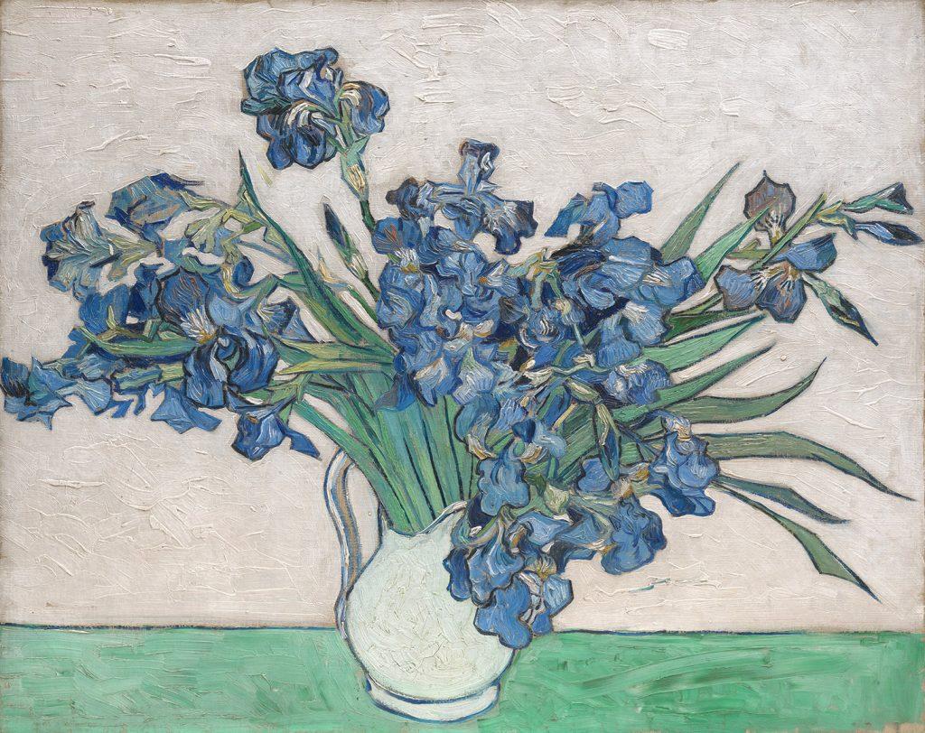 Anche al Metropolitan, gli Iris di Van Gogh triofano, posizionandosi al quarto posto tra le opere più scaricate. (1890) (image courtesy The Metropolitan Museum of Art)