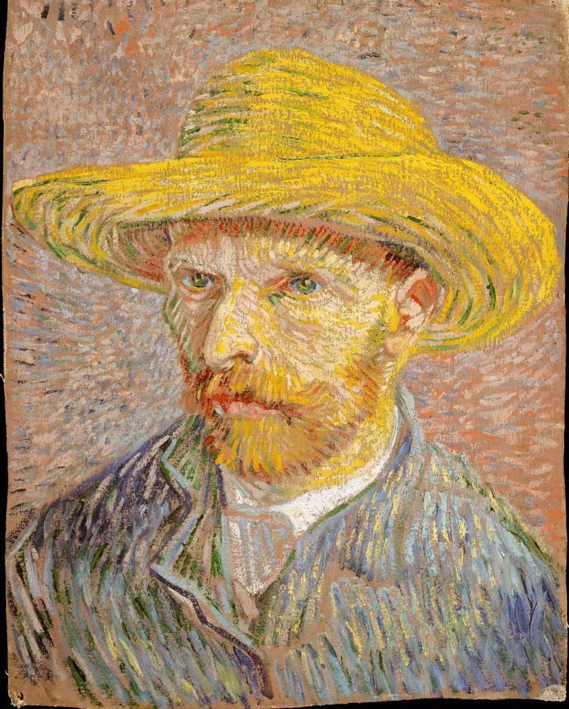 Vincent Van Gogh - Autoritratto con cappello di paglia (1887). Questa la terza opera più scaricata. (image courtesy The Metropolitan Museum of Art)
