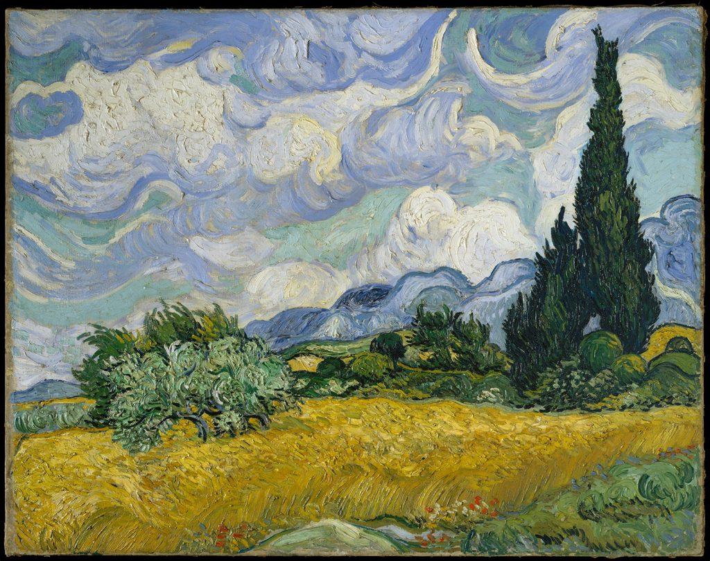"""Anche al Metropolitan, è Van Gogh a trionfare incontrastato. Il suo """"Campo di grano con cipressi"""" del 1889 è l'immagine più scaricata. (image courtesy The Metropolitan Museum of Art)"""