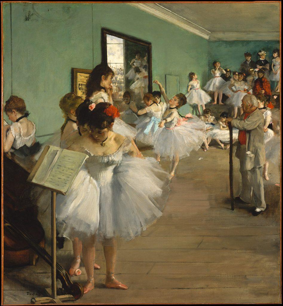 """La classica """"Lezione di danza"""" di Edgar Degas occupa il quinto posto tra le opere più scaricate dal database del Metropolitan. (1874) (image courtesy The Metropolitan Museum of Art)"""