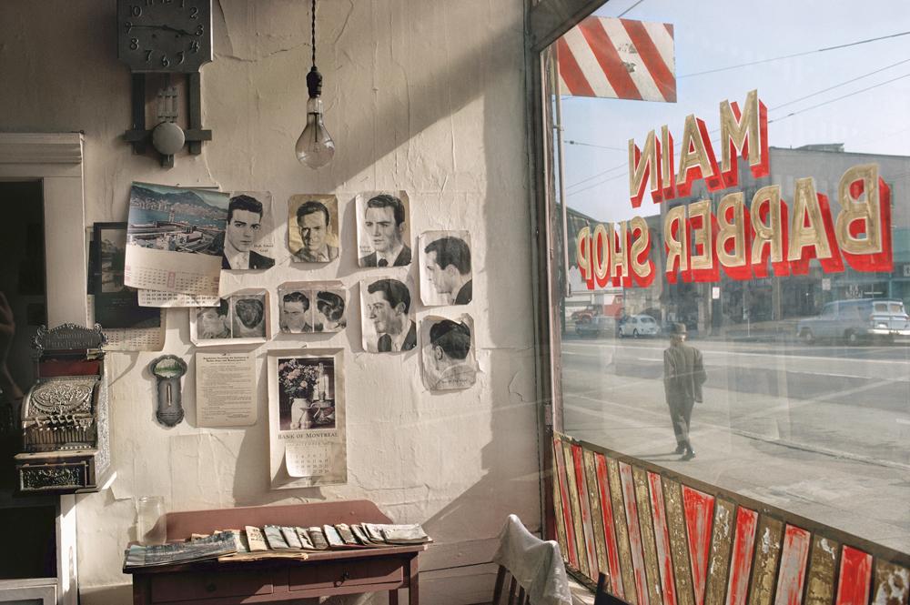 Main barber, 1968. (Fred Herzog, Equinox gallery)