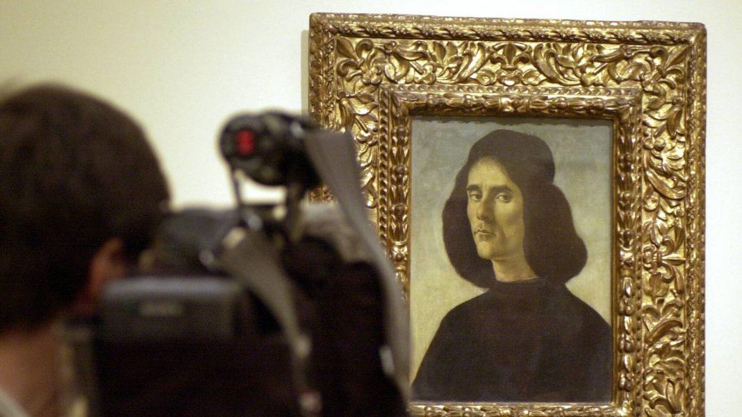 Ritratto di Michele Marullo Tarcaniota, opera di Sandro Botticelli, esposta nel Museo del Prado (Efe)