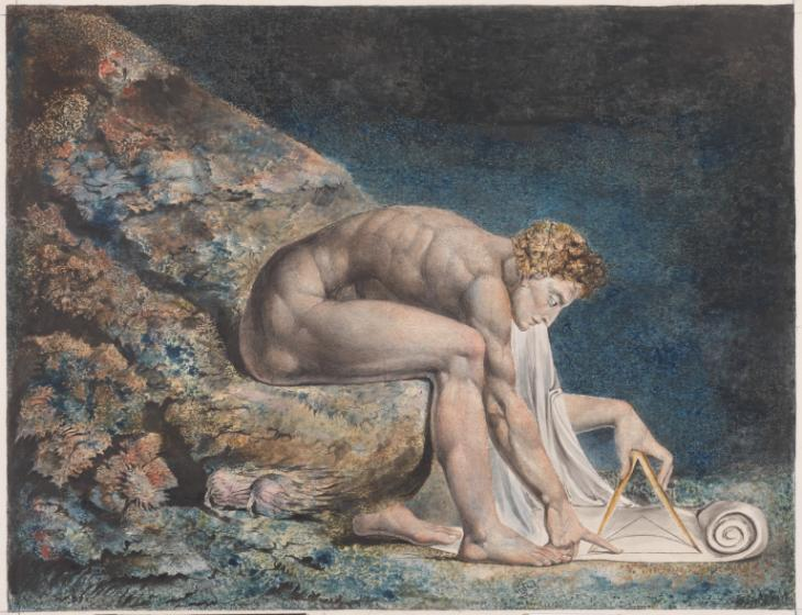 "William Blake, ""Newton"", 1795-c.1805. © Tate"