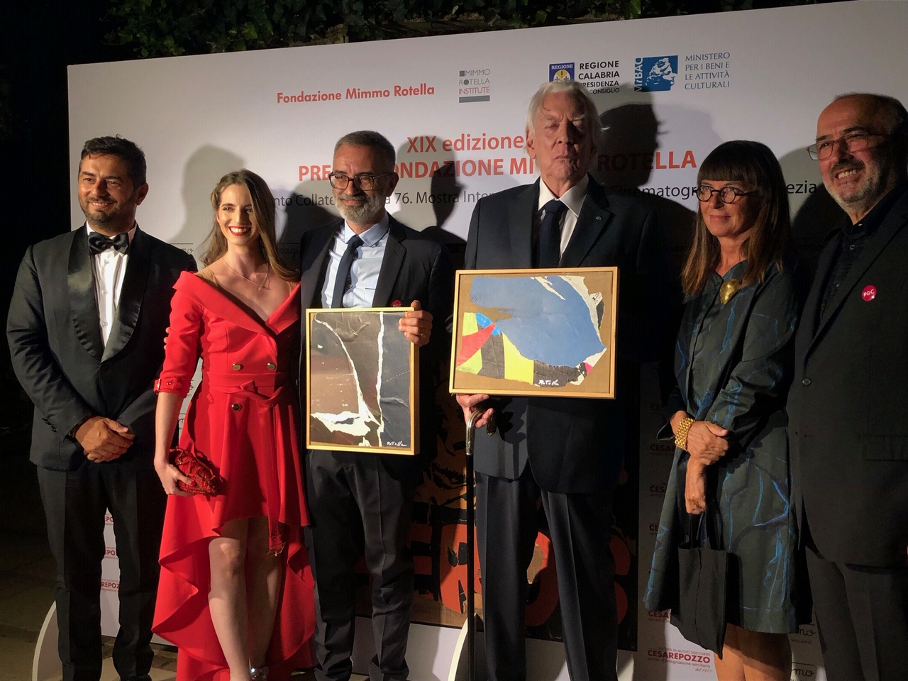 La cerimonia del Premio Fondazione Mimmo Rotella