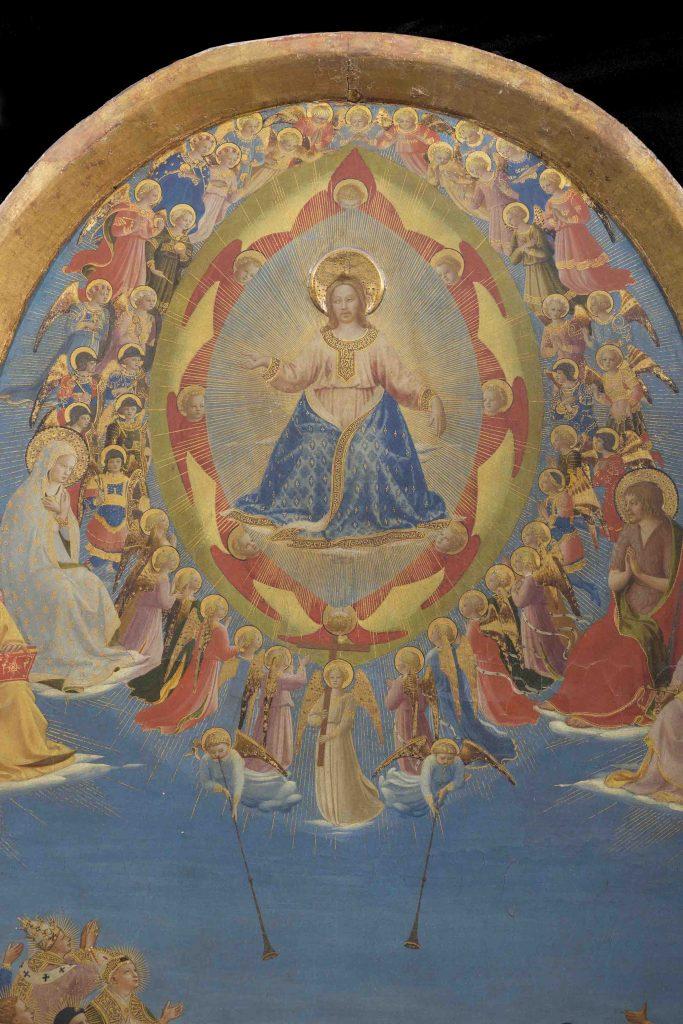 Beato Angelico, Giudizio Universale, particolare prima del restauro