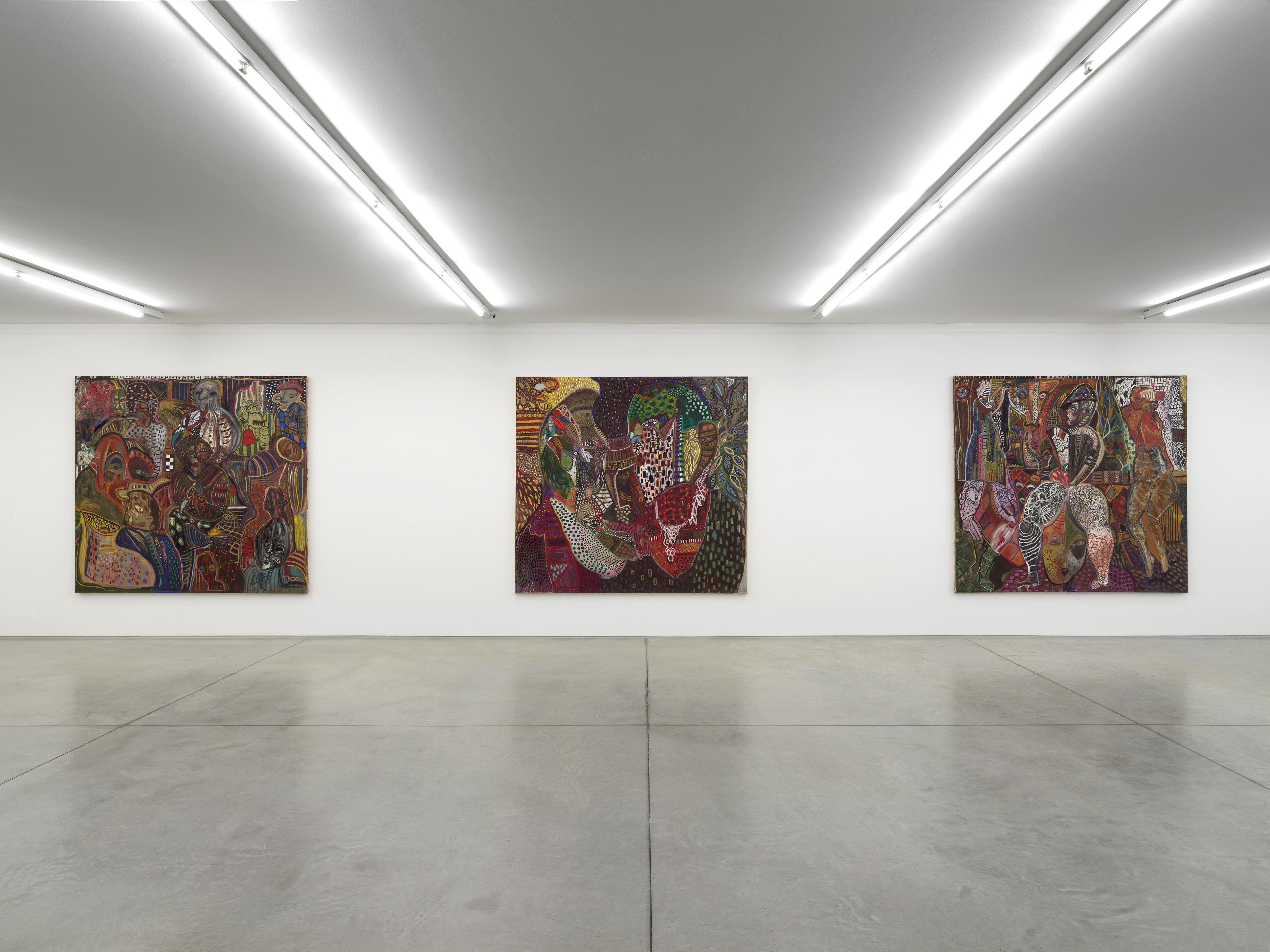Mona Osman Rhizome and the Dizziness of Freedom Veduta di mostra / Exhibition view  Collezione Maramotti, 2019 Ph. Dario Lasagni